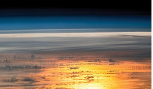 Sunset from the International Space Station (ISS) - but is it dawn or dusk for space innovation?