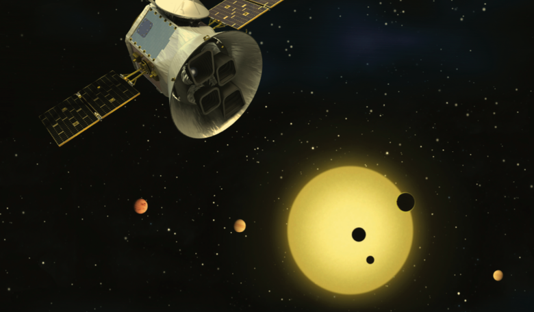 Schematic of the Transiting Exoplanet Survey Satellite (TESS). Image: NASA