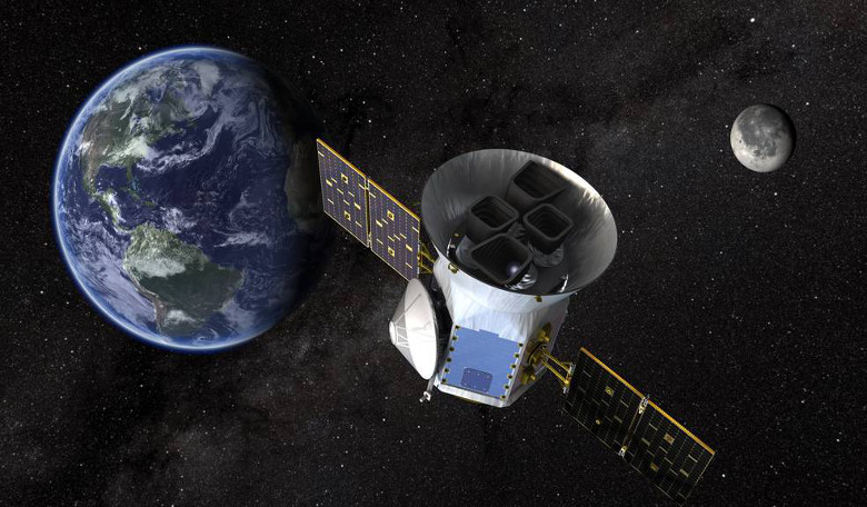 Artist impression of TESS in space. Image: NASA