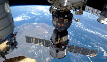 The International Space Station is so far one of the biggest ever symbols of international cooperation but still excludes the likes of China and India. This picture showing three of the five spacecraft docked to the station was taken by ESA�s British
