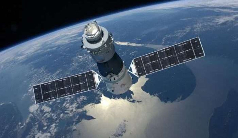 An artist's illustration of China's Tiangong-1 space lab in Earth orbit. Image: CMSA