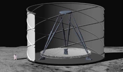 UT Austin astronomers Anna Schauer, Niv Drory, and Volker Bromm are advocating the revival of the lunar liquid mirror telescope project to study the first stars that formed in the Universe. Image: oger Angel et al./Univ. of Arizona