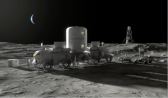 An artist's rendering of US astronauts on the Moon. Image: NASA