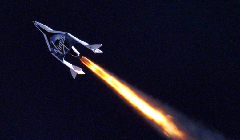 Virgin Galactic's first SpaceShipTwo during its first supersonic powered flight. Image: MarsScientific.com/Virgin Galactic