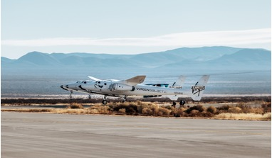 Virgin Galactic's VMS Eve lifts off with SpaceShipTwo Unity in tow. Image: Virgin Galactic