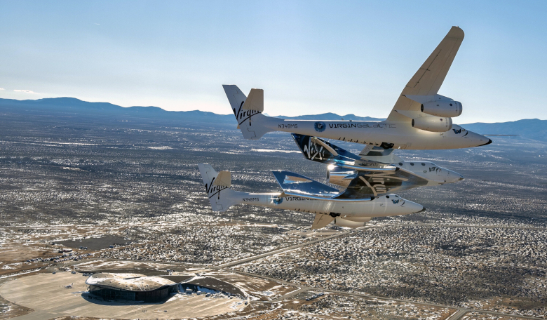 Virgin Galactic says it will use its training facilities at Spaceport America, as part of a programme to support private astronauts seeking to go to the ISS. Image: Virgin Galactic