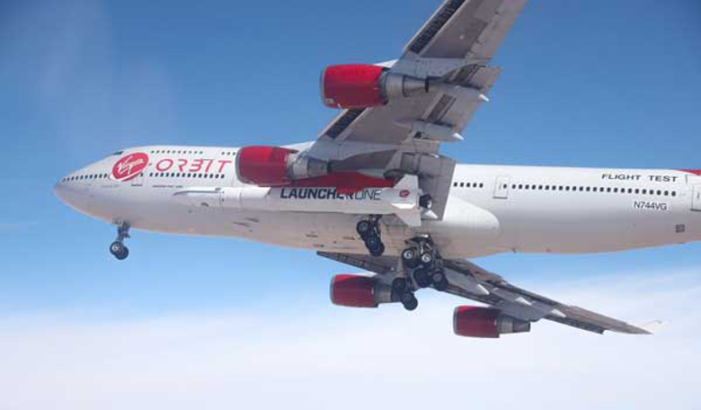 Virgin Orbit's Cosmic Girl takes to the skies to perform its first captive carry of LauncherOne. Image: Virgin Orbit