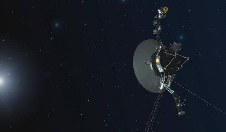 An artists impression of Voyager 1 on its mission to interstellar space and beyond. Image: NASA