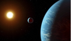 An artist's illustration of an exoplanet system. Could LHS1140b be hosting an ocean over one hundred kilometres deep? Image: R. Hurt (IPAC)/NASA/JPL-Caltech