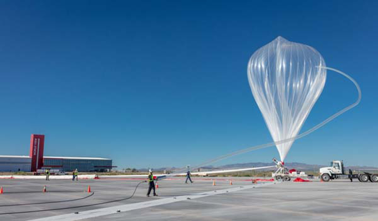 World View launches its first Stratollite balloon from Spaceport Tucson this week. Image: World View