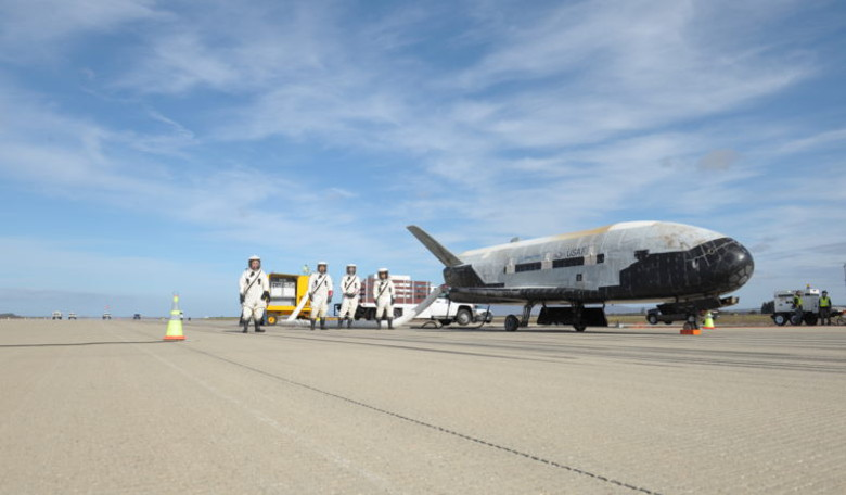 The X-37B Orbital Test Vehicle (OTV) is the US Air Force's unmanned, reusable space plane. Image: Boeing