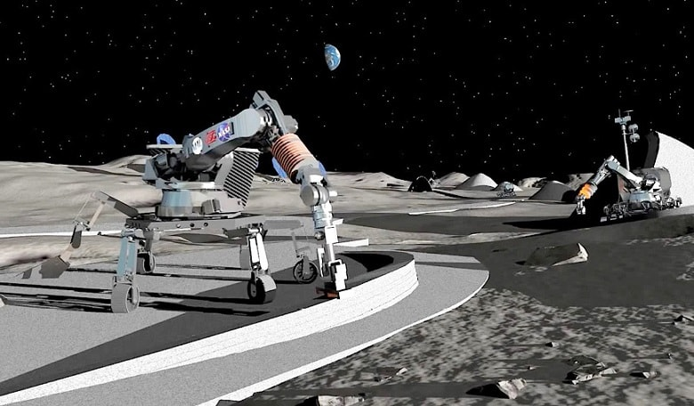 3D printing technique building plan for Moon and Mars bases