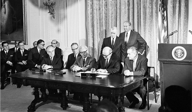 United Nations - signing of the Outer Space Treaty