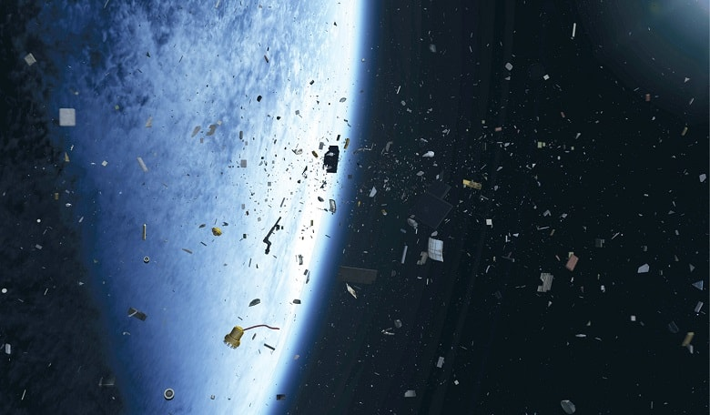 A 'real' view of what smaller pieces of space debris might look like in orbit