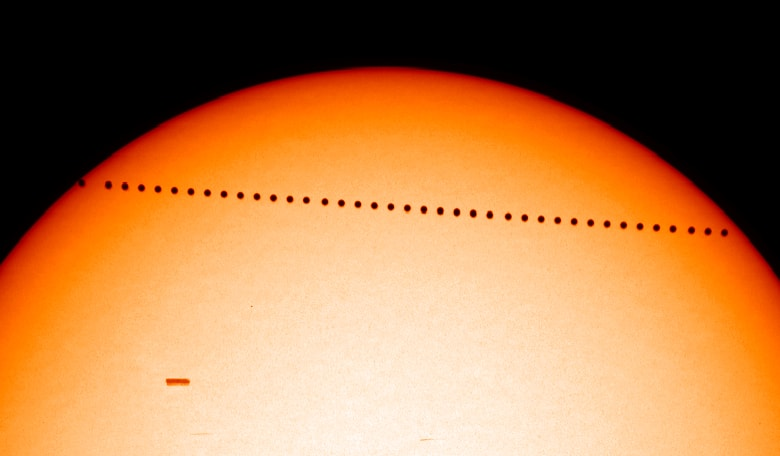 Transit of Mercury. Image Credit: NASA