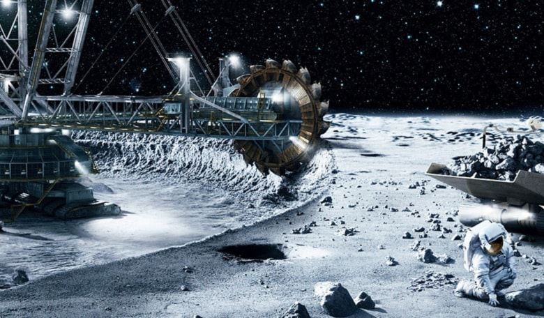Futuristic mining on the Moon