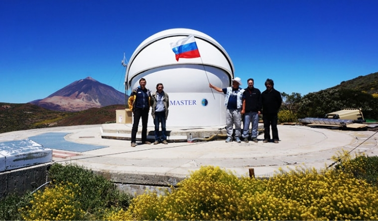 MASTER II Robotic telescope on the island of Tenerife, Canary Islands, at the Teide Observatory at the Instituto de Astrofísica de Canarias.