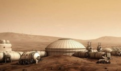 A habitat design for future living on Mars, by artist Bryan Versteeg.