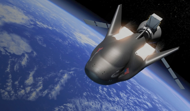 Artist's view of Dream Chaser in Earth orbit.