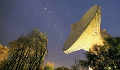 The 35 m diameter dish antenna of ESA's deepspace tracking station at New Norcia, Australia.