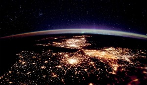 The UK and Europe as viewed by British astronaut Tim Peake during his ESA mission on the International Space Station.