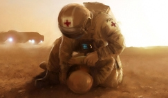 Medic on Mars by artist Phil Smith.