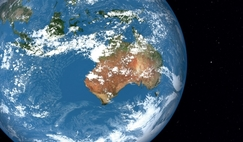 The Australian continent from orbit.