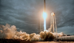 Liftoff off the OA-8 Antares-Cygnus cargo carrier with the Asgardia-1 satellite.