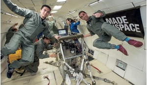 Testing of the Made In Space 3D printer involved 400-plus parabolas of microgravity test flights.