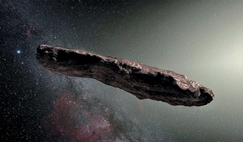 Oumuamua, the first known interstellar object to pass through the solar system. Scientists have found no evidence it is anything other than rock.