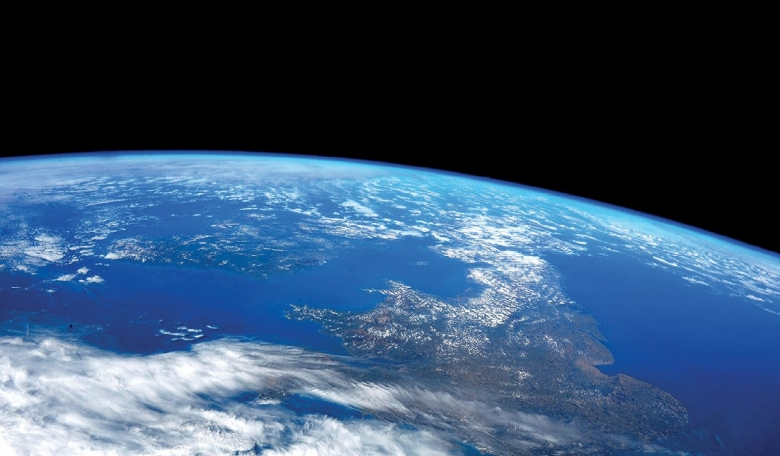 ESA astronaut Samantha Cristoforetti's photo of the UK from the International Space Station.