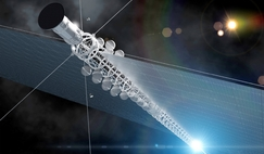 An inertial confinement fusion interstellar probe decelerating towards the Alpha Centauri star system and releasing sub-probes. The concept was developed by a team from the Technical University of Munich for Project Icarus.