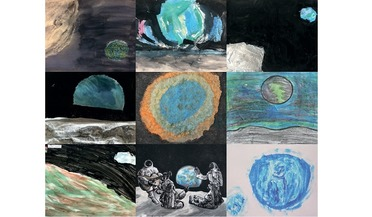 children's art, Earthrise, Earthrise documentary film, Space for Art Foundation
