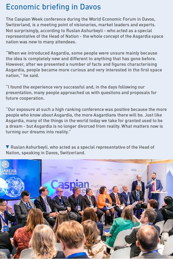 Ruslan Ashurbeyli, who acted as a special representative of the Head of Nation, speaking in Davos, Switzerland.