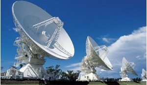 The antennas of the Australia Telescope Compact Array, near Narrabri, New South Wales.