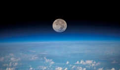 A full Moon is pictured from the International Space Station in 2019.