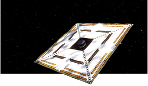 IKAROS (Interplanetary Kite-craft Accelerated by Radiation of the Sun) was the first spacecraft to successfully use a solar sail at some distance from Earth.