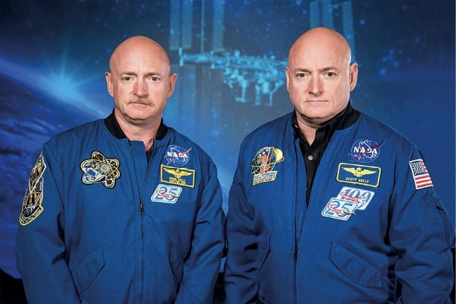 Twin astronauts, Scott and Mark Kelly were subjects of NASA's Twins Study