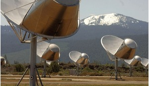 The Allen Telescope Array, California, which is dedicated to astronomical observations and a simultaneous search for extraterrestrial intelligence.