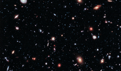 The Xtreme Deep Field (XDF), image combines 10 years of Hubble Space Telescope photographs of a narrow patch of sky at the centre of the original Hubble Ultra Deep Field to show some of the most distant galaxies in the observable Universe.