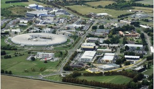 Aerial view of the Harwell Campus in Oxfordshire, UK.