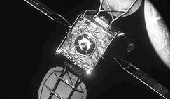 Visible near-field image of Intelsat 901, taken by MEV-1 from a distance of about 15 m, just prior to docking.