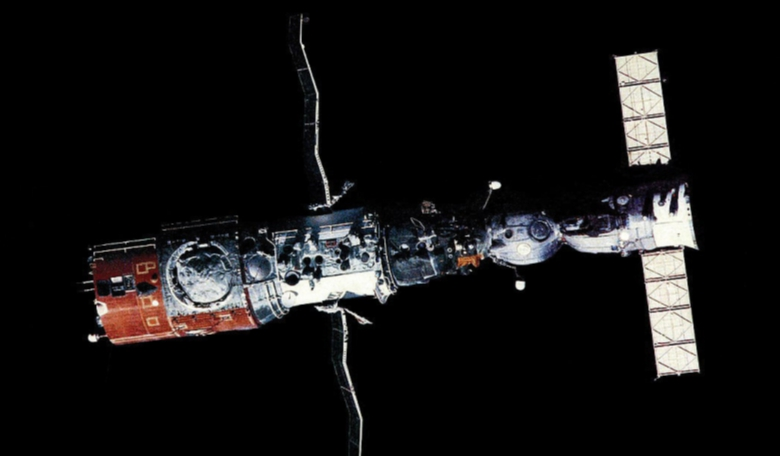Soyuz T-4 docked to the Salyut 6 space station in 1981