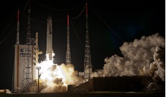 Lift-off of Rosetta by Ariane 5 in March 2004.
