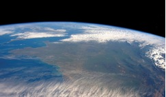 France from the International Space Station.