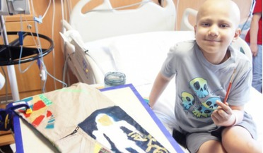Paediatric cancer patients aim for the stars with space inspired art project