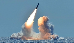Test launch of unarmed Trident II D5 missile by the US Navy.