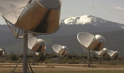 The Allen Telescope array, California, which is part of the search for extraterrestrial intelligence. SETI Institute