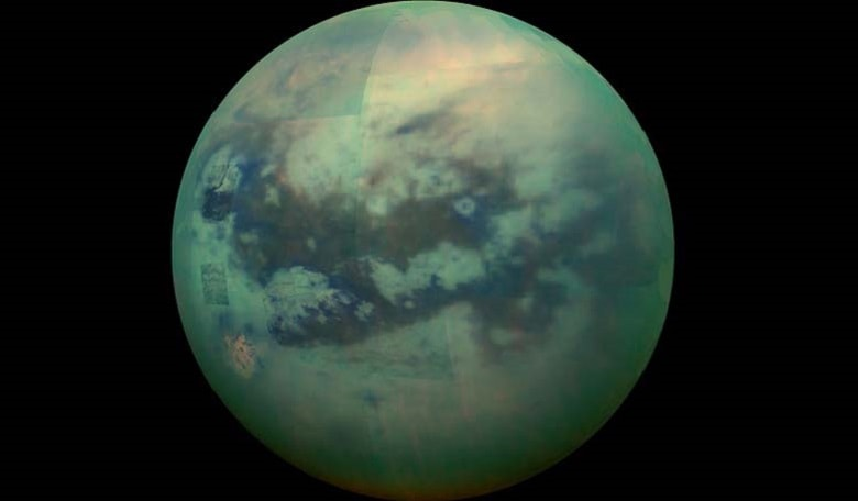 Peering Through Titan's Haze. Image credit: JPL/NASA