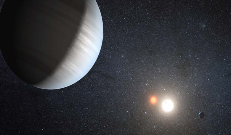 An artists illustration of a multi-planetary system. Image Credit: Kepler.nasa.gov